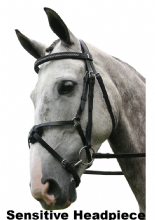 Sabre Cordoba  Sensitive GERMAN SILVER Mexican Grackle Snaffle Comfort Bridle